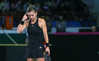 Simona Halep, învinsă de Șarapova la Turneul Campioanelor
