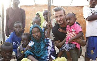 David Beckham a vizitat o tabără de refugiaţi