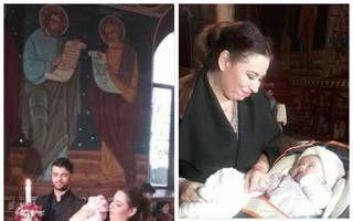 Oana Roman a botezat fetița unei femei sărmane