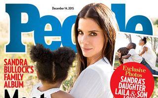 Sandra Bullock, pozată de iubitul ei cu fetița adoptată
