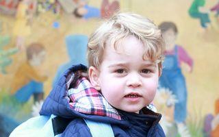 Prima zi de creșă a prințului George - FOTO