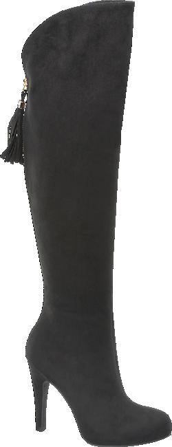 fd50a4464085c2 Cizmele peste genunchi se numara printre cele mai populare alegeri in acest  sezon. Deichmann propune un model prevazut cu toc cui, tip stiletto si  aspect de ...
