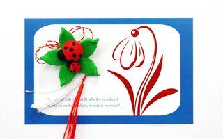 Mărțișoare caritabile pentru copiii bolnavi de cancer, realizate de voluntarii Asociației M.A.M.E.
