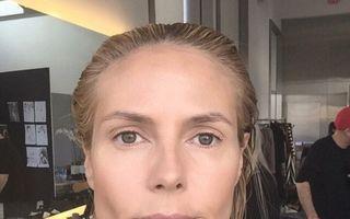 Îndrăzneală la 42 de ani: Heidi Klum, selfie fără machiaj - FOTO