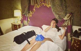 Catrinel Menghia, imobilizată la pat după o accidentare la schi