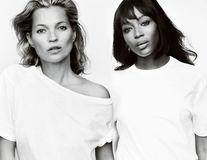 Naomi Campbell şi Kate Moss au pozat pentru o campanie contra cancerului mamar