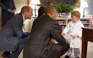 Halatul purtat de prințul George la întâlnirea cu Obama, epuizat din magazine