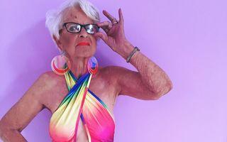 Bunicuța fashionistă face senzație pe internet la 87 de ani - FOTO