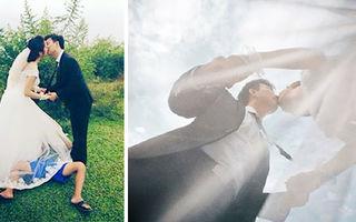 15 imagini care arată că fotografii fac orice pentru pozele de nuntă perfecte