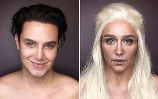 """Un bărbat se transformă în orice personaj din """"Game of Thrones"""". Doar cu ajutorul machiajului!"""