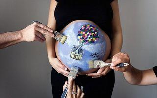 O nouă modă: Pictura pe burtica de gravidă