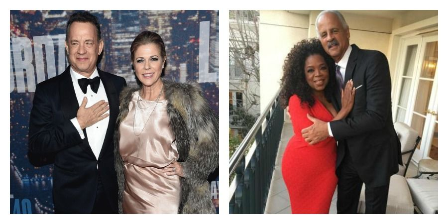 Tom Hanks si sotia sa/ Oprah Winfrey si sotul sau