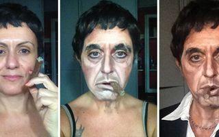 Femeia care arată ca Regina Angliei, Al Pacino şi Stallone. Machiajul e secretul ei!