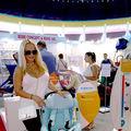 Anda Adam a cumparat de la targul Baby Boom Show scaun auto de ultima generatie pentru fetita ei, Evelin