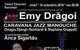 CARAVANA  JAZZ MANOUCHE - OMAGIU DJANGO REINHARDT & STEPHANE GRAPPELLI poposeste la Clubul Taranului din Bucuresti