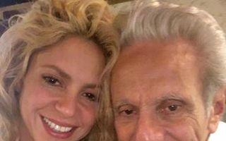 Shakira, selfie cu tatăl ei, care a împlinit 85 de ani - FOTO