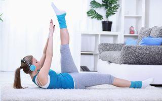 Exerciţii de slăbit acasă. Sunt eficiente şi rapide!