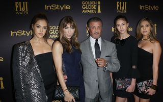 Stallone are cu ce se mândri: Fetele lui, alese Miss Golden Globe 2017 - FOTO