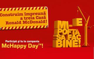 De McHappy Day prietenii McDonald's sprijină Fundația Ronald McDonald