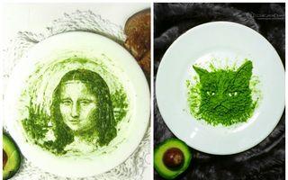 Ce face din avocado e ceva de speriat! Desenele lui sunt senzaţionale