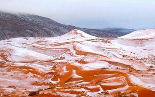 A nins în Sahara! Imaginile bizare au uimit întreaga lume