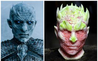 Face sculptură în pepene roşu! E incredibil cum l-a făcut pe Regele Nopţii din Game of Thrones
