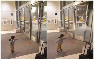 Forţa e cu el! Un copil crede că deschide uşile cu puterea minţii - VIDEO