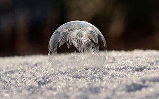 Cum arată un balon de săpun la minus 16 grade Celsius - FOTO