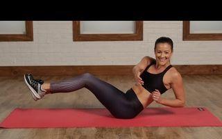 5 minute de exerciţii pentru un abdomen plat - VIDEO