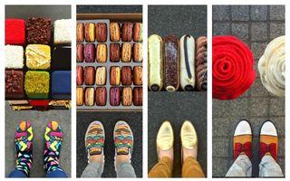 Pasiunea nebună a unui artist. Îşi asortează pantofii cu deserturile pariziene