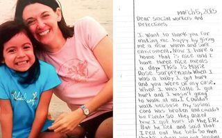 O fetiţă a scăpat de părinţii care o băteau. Scrisoarea ei către cei care au salvat-o e impresionantă