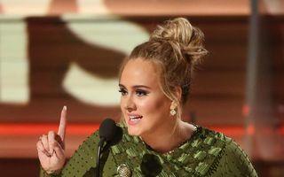 Adele și-a rupt accidental premiul Grammy, nu pentru a-l împărți cu Beyonce