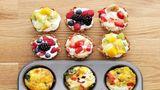 Mic dejun rapid şi de dietă. Trei idei inedite într-o tavă pentru brioşe!
