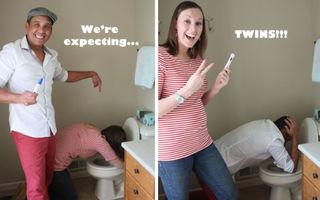 Cele mai amuzante poze pentru a anunţa o sarcină