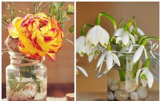 23 de idei minunate pentru a-ţi decora casa cu flori