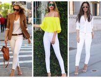 Cum să porți blugii albi. 50 de ținute din care să te inspiri