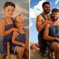 30 de poze din copilărie pe care fraţii le-au făcut din nou. Imagini amuzante!