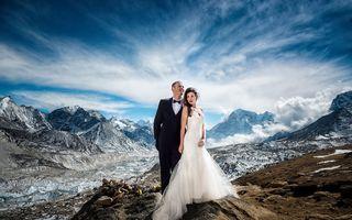 Nuntă pe Everest: S-au căsătorit pe cel mai înalt munte din lume - FOTO