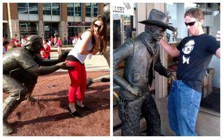 Şi-au făcut de cap cu statuile! 20 de fotografii de tot râsul