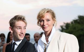 """Uma Thurman a pozat la Cannes cu băiatul ei: Cum arată fiul vedetei din """"Kill Bill"""""""