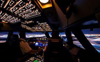 Ce vede un pilot de avion în timpul zborului: Imaginile sunt superbe