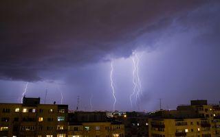 Cod galben de ploi torențiale și vijelii până joi noapte în 36 de județe și în Capitală