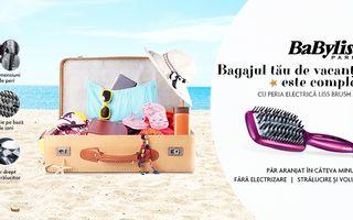 Bagajul tău de vacanță este complet cu peria electrică de îndreptat părul Liss Brush 3D