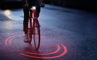 Video: Bicicleta cu laser te face vizibil noaptea