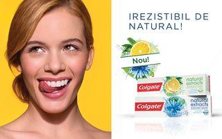 Colgate® Natural Extracts, o plăcere naturală pentru dinţii tăi sănătoşi