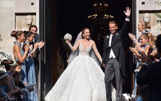 Moştenitoarea imperiului Swarovski, nuntă în cea mai frumoasă rochie de mireasă
