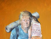 Cum ar arăta liderii lumii dacă ar fi refugiați. Picturile tulburătoare ale unui artist sirian