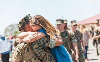 Cel mai frumos moment: Când un soldat se întoarce acasă