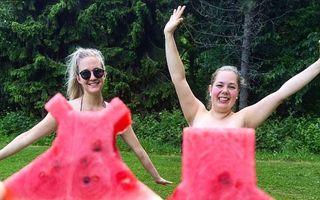 Rochia din pepene roşu, noua modă care face senzaţie pe Instagram