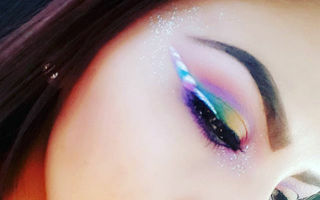 Cea mai colorată tendință în machiaj: ochii în stil Unicorn